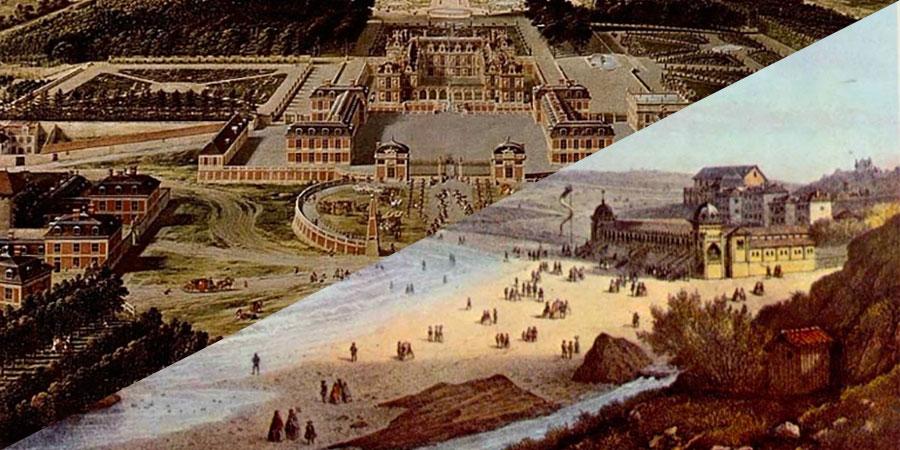 Versailles – Biarritz : de cité Royale en Impériale, de la nature à l'océan